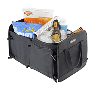 Foldable cartrunk organizer with cooler