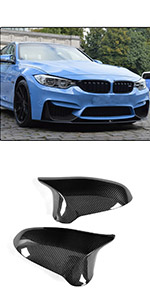2 Piezas de Fibra de Carbono Interior de Coche Cubierta de manija de Puerta embellecedor de Puerta Pegatinas de Cuenco JzyhNzd para BMW M4 F82