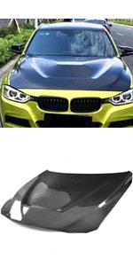 Bright Black Semoic 1 Pair Front Hood Glossy Black Kidney Grille Grill for 2014-2017 F34 320I 328I 330I 335I 340I GT XDrive 4-Door Dual Slat