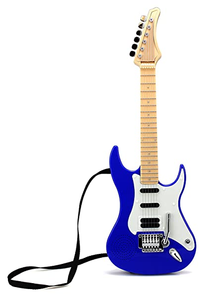 22 hot rock electric battery operated toy guitar plays 4 different rock rhythms. Black Bedroom Furniture Sets. Home Design Ideas