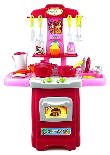 Amazon.com: Fun Cook Pretend Play Children\'s Toy Kitchen Cooking ...