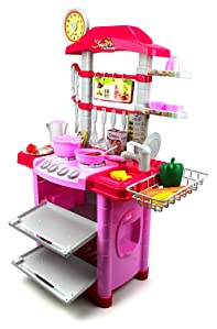 Super Deluxe Food Shop Pretend Play Childrenu0027s Toy Kitchen Cooking Playset