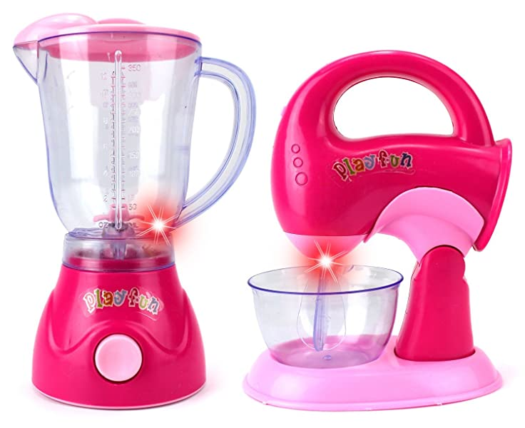 my first kitchen blender mixer pretend play battery operated toy home appliances. Black Bedroom Furniture Sets. Home Design Ideas