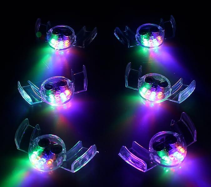 Amazon.com: 6 unidades de colorido intermitente luz LED ...