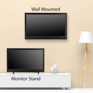 wall mounted or stand