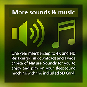 Sleep Sound Machine - 2nd Generation with SD Card with Relaxing Nature  Sounds