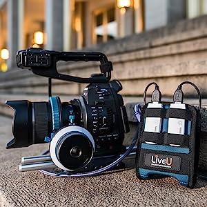 Portable live video streaming encoder social media video