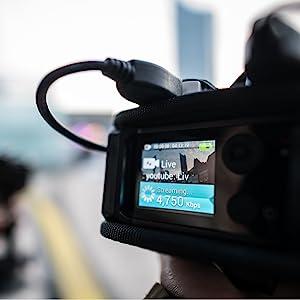 Portable bonding live video streaming encoder social media online livestream