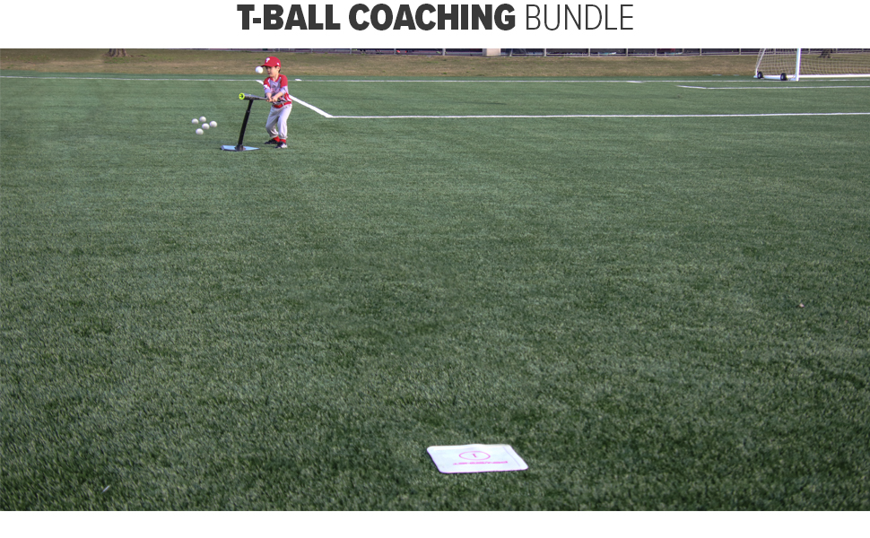 PowerNet Tee Ball Coaching Set for 8U baseball
