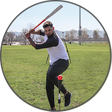 Silver Slugger German Marquez of Colorado takes hacks with the PowerNet Crusher Balls.
