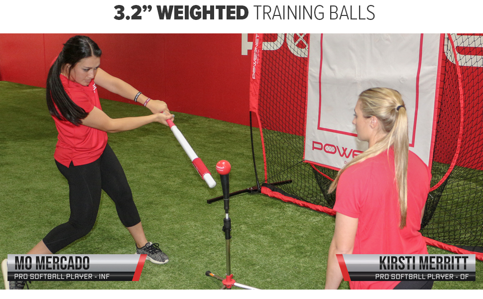Mo Mercado training with a PowerNet Heavy Weighted Ball