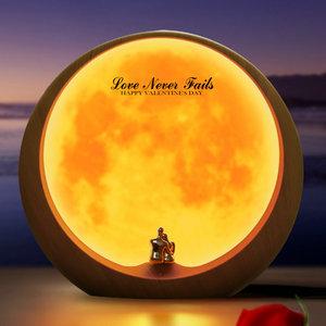 mamre Moon Ambient Light DIY Anniversary Wedding Valentines Day Gift Ideas Art Décor, Love Beneath The Red Moon 2yVeWXnkTOaJ