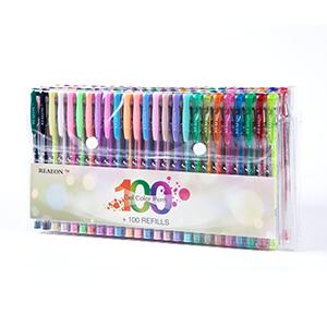 100 gel pens