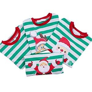 Amazon.com  LYXIOF Girls Pajamas Kids Striped Cotton Pjs Toddler ... 50106d7f9