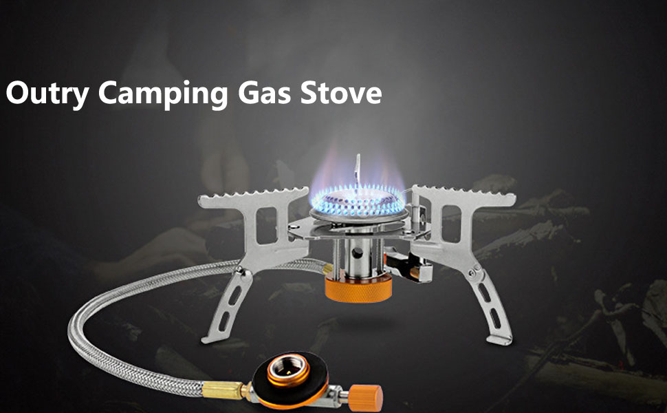 Small Folding Windproof Camping gaskoch Sgodde Camping Stove with Piezo Ignition