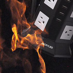Amazon com: Power Strip Tower JACKYLED 8 AC Outlets 3000W