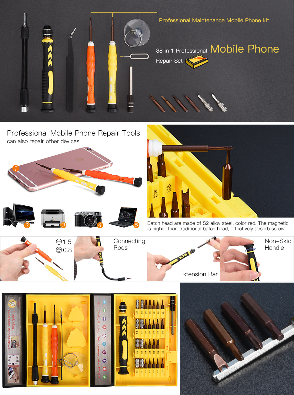 Amazon 38 in 1 precision screwdriver tool kit jackyled product description magicingreecefo Image collections