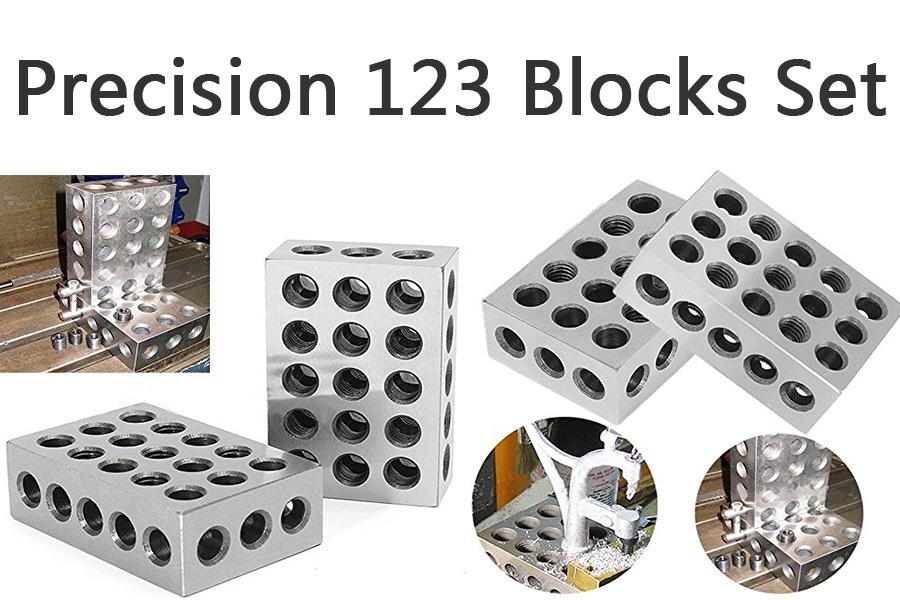 Precision 1-2-3 Blocks 2pcs Parallel Clamping Block Set 23 holes ...