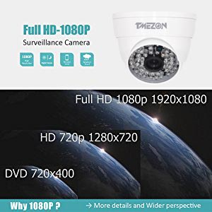 AHD 1080p security bullet camera provides you clearer picture and image than the 720P camera. You will never miss every detail of your pet, family at day ...