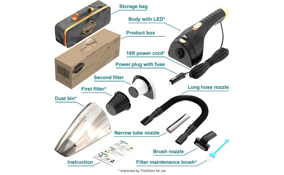 TWC-02 thisworx car vacuum cleaner