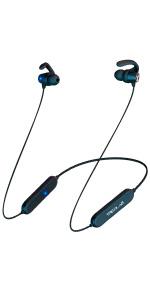 TREBLAB N8 Sports Bluetooth Headphones Neckband Earbuds Magnetic IPX5 Waterproof