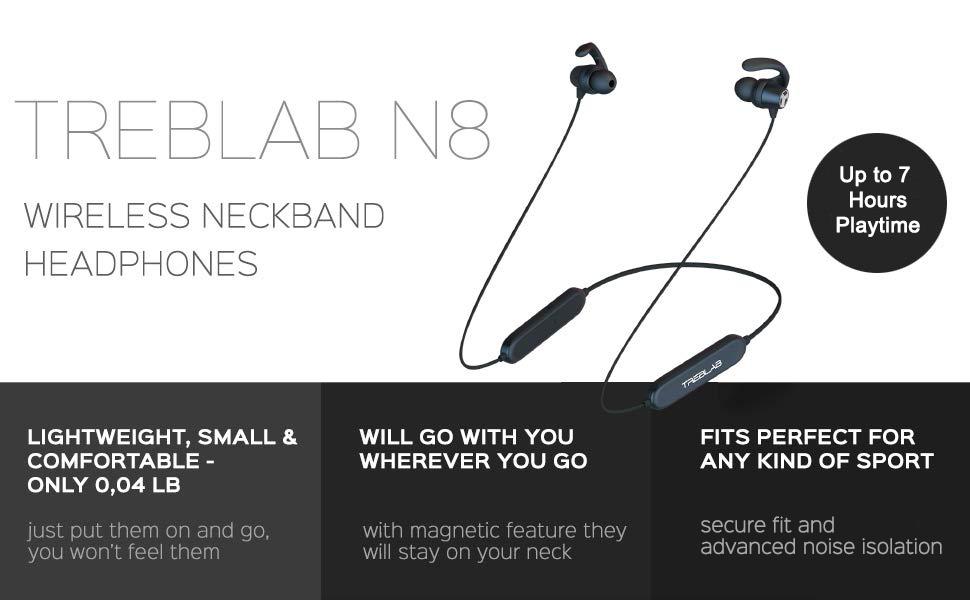 wireless neckband headphones bluetooth earphones sports headphones