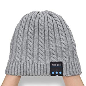 Unique Christmas Tech Gifts for Women Mom Her Men Teens Boys Girls Mens Pardecor Wireless Hat Bluetooth Beanie Knit Music Cap with V5.0 Headphones Headset for Outdoor Running Skiing Camping Hiking