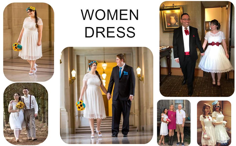 women wedding party dress