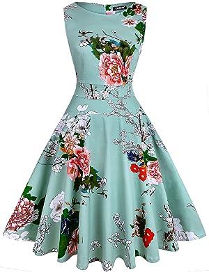 Owin Women 39 S Vintage 1950 39 S Floral Spring Garden