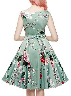 Amazon.com: OWIN Women's Vintage 1950's Floral Spring Garden ...