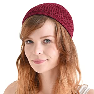 f34d932ef67f34 ALLOWS YOUR SKIN TO BREATHE - The knitted skull cap is made with high  quality breathable cotton, keeping you from feeling stuffy; UNISEX BEANIE  ...