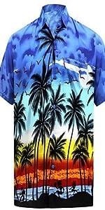BLUE BEACH HAWAIIAN SHIRT