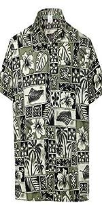 TROPICAL PRINTED BEACH HAWAIIAN SHIRTS FOR MEN