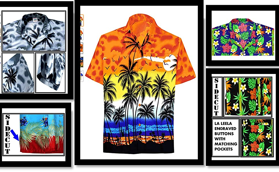 Orange Hawaiian Shirt Beach shirt for Men