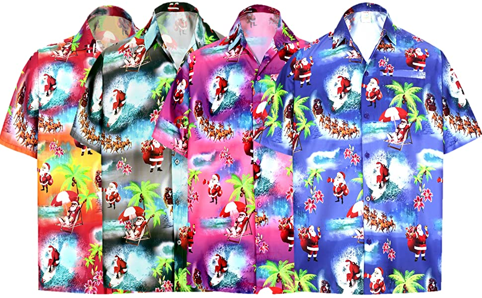 christmas la leela men hawaiian shirt