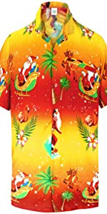 Orange Chirtsmas Men shirts
