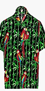 PARROT PRINTED BEACH SHIRTS FOR MEN