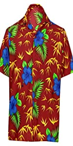 HIBCUS PRINTED BEACH HAWAIIAN SHIRTS FOR MEN