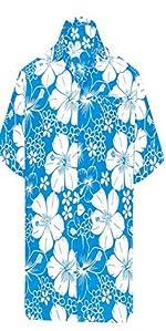 FLORAL PRINTED BEACH HAWAIIAN SHIRTS FOR MEN
