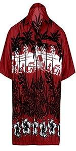 cce670575 LA LEELA Likre Men's Hawaiian Shirt Royal Blue 516 X-Small   Chest ...
