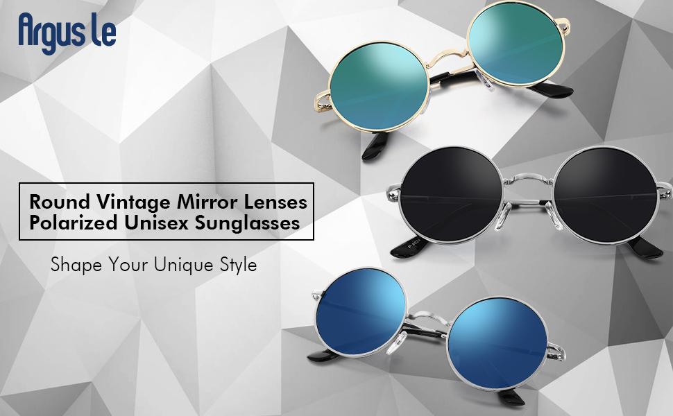c17717360d Amazon.com  Argus Le Lennon Retro Round Sunglasses