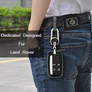 range rover 5 button key fob case leather metal key shell keychain for men key skin pink