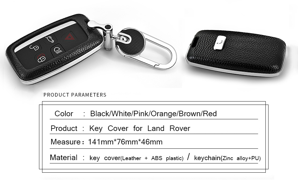 keycase leather Ranger Rover Sport silver key skin pink key box smart caar key holder