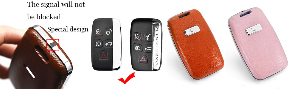 key fob case cover leather for land rover range rover