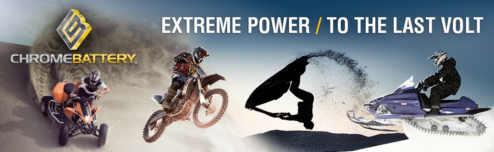 Powersports batteries for dirt bikes, motorcycles, scooters, and watercrafts.