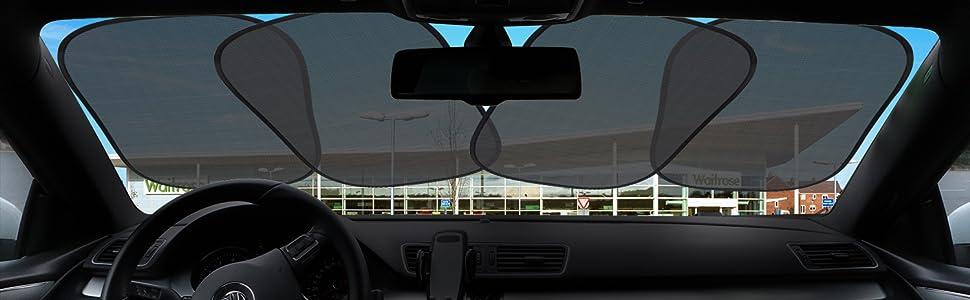 Amazon.com: BASHERRY KRIBIN - 4 parasoles para ventana de ...