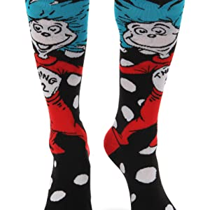 f648132d6 Thing 1   Thing 2 are here to delight you with these Thing 1 2 Knee-High  Costume Socks by elope.