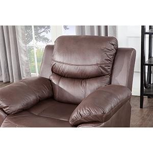 Amazon.com: JUNTOSO - Sofá de piel y silla reclinable ...