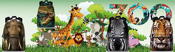 Preschool 3D Animal Face Back Pack