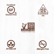 certifications, non gmo, kosher, gluten free, gluten-free, non gmo, gmo-free, natural, allergen-free